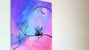 DIY 3D Fairy <b>Canvas Painting</b> // Room <b>Decor</b> - YouTube