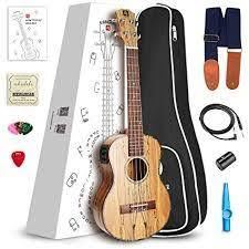 <b>Vangoa Soprano</b> Ukulele Spalted Maple UK-<b>21SM 21 inch</b> Acoustic ...