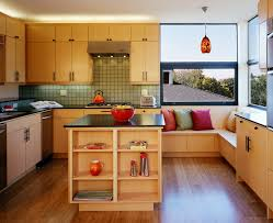 bench kitchen contemporary built ins
