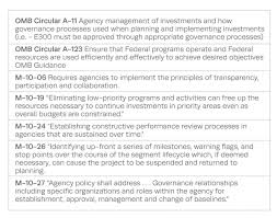 it governance the corporation sample omb circulars and guidance