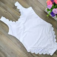 Special Price For lace up <b>one piece</b> white swimwear list and get free ...