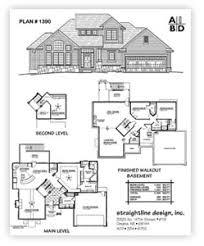 Straightline Design  Inc    Buy PlansPlan         Story Home Main level    SQ FT Second Level  SQ FT Optional Finished Basement    SQ FT