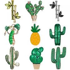 <b>Green</b> Plants <b>Leaf</b> Brooch Pin <b>Cactus</b> Women Costume Wedding ...
