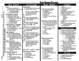 revising essay checklist  coursework help revising essay checklist