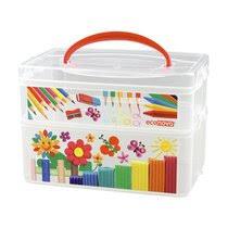 <b>Коробка Бытпласт</b> Multi <b>Box универсальная</b> с ручкой и декором 2 ...