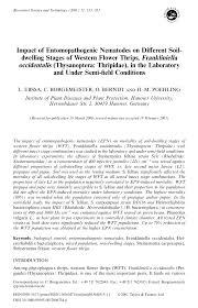(PDF) Impact of Entomopathogenic Nematodes on Different Soil ...