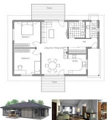 Small house plan in one level  Simple shapes and classical design    Small house plan in one level  Simple shapes and classical design  Living area is