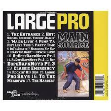 large professor main source cd release date tracklisting 120080930014611 >large professor