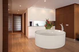 bathroom medium size white round bathtub with faucet recessed lights in ceiling bathroom and wall paint bathroom lighting options