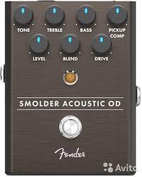 <b>Педаль эффекта Fender</b> Smolder <b>Acoustic</b> Overdrive купить в ...
