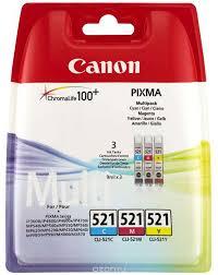 <b>Картридж Canon CLI</b>-<b>521</b>, голубой, пурпурный, желтый, для ...