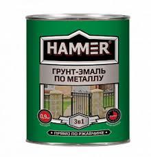 Эмаль <b>грунт</b>-<b>эмаль по металлу hammer</b> кр.-коричневый (ф.-2,7 кг ...