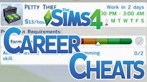 the sims career level up cheats the sims 4 career level up cheats