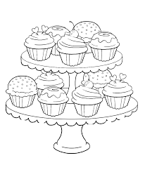 Small Picture Birthday Cupcake Steady And Delicious Coloring Page Birthday