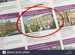houses for stock photos houses for stock images alamy houses for ads circled in newspaper london england uk stock image