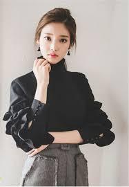 korean fashion wild petal earrings