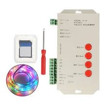 <b>dc5</b>-<b>24v t1000s</b> sd card <b>led</b> pixel <b>rgb</b> full color <b>controller</b> for ws2812b ...