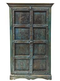 blue patina antique furniture old door storage cabinet armoire antique furniture armoire