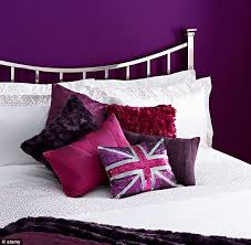 colours for a bedroom: stimulating but bedrooms that are painted purple could encourage creativity and stop the brain from