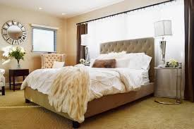 neutral bedroom with tufted bed chairs and mirrored furniture contemporary bedroom bedrooms mirrored furniture