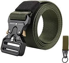 KingMoore Men's <b>Tactical Belt</b> Heavy Duty Webbing <b>Belt</b> Adjustable ...