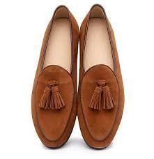 <b>British Fashion Men</b> Real Suede Leather Slip On <b>Loafer</b> Tassels ...