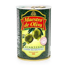 <b>Оливки</b> зелёные <b>Maestro de Oliva</b> Гигант без косточки 420 г ...