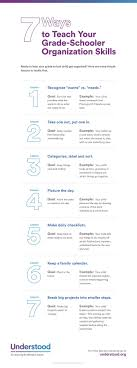 17 best ideas about kindergarten checklist 7 ways to teach your grade schooler organizational skills infographic
