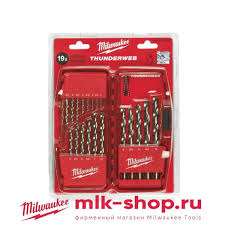 <b>Набор сверл</b> Milwaukee HSS-G Thunderweb (19шт) 4932352374 ...