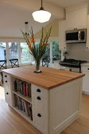 kitchen island mobile: kitchen island with bookcase ikea inspired