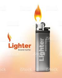 vector lighter ad template orange blaze stock vector art vector lighter ad template orange blaze royalty stock vector art