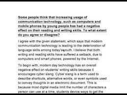 essays on communication skills ielts essay effect of modern communication technology on reading  ielts essay effect of