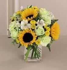 Bright Red, Orange, and <b>Yellow Sunflower</b>, <b>Rose</b>, and Calla Lily ...