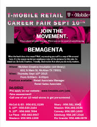t mobile job fair at the in tor