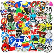 100 Pcs Fashion Brand Cool Stickers For Laptop ... - Amazon.com