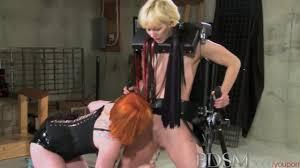 bdsm toys BDSM XXX Hardcore lesbian toy action makes sexy bound blonde sub squirt