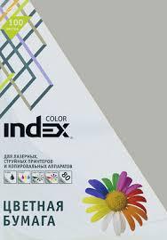 """<b>Бумага цветная</b> """"<b>Index Color</b>"""", 80 г/м2, А4, серый, 100 листов ..."""