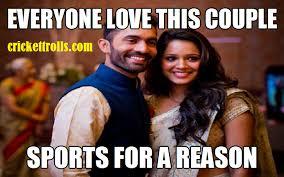 Congratulations to the newly married couple | Cricket Trolls ... via Relatably.com