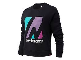 Women's <b>Essentials Terrain</b> Graphic Crew <b>Fleece</b> Top - New Balance