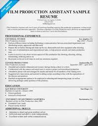 production resume examples  production manager resume sample    film production assistant resume