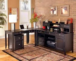 astounding home office ideas modern interior design with classy black wooden l shaped work desk black desks for home office