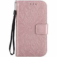 Flip Phone Cover 2 Screen Protectors Membrane Black <b>PU Leather</b> ...