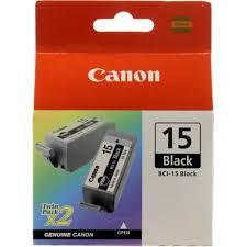 Оригинальный <b>картридж Canon BCI</b>-<b>15Bk</b> (двойной) 2 шт. в ...