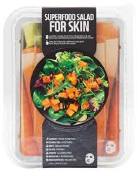 <b>superfood salad for skin</b> facial sheet mask carrot package
