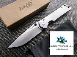 SRM LAND 912 FrameLock Pocket Knife 12C27 <b>Sandvik</b> Blade ...