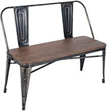 Merax Rustic <b>Vintage Style</b> Distressed Dining Table <b>Bench</b> with ...
