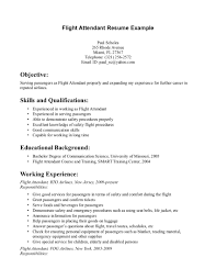 airline resume service example resume resume objective for flight attendant experience and education for waitress resume