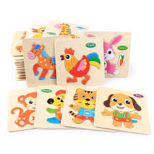 <b>3D Wooden Puzzle Jigsaw</b> Toys Cartoon Animal Vehicle Wood ...