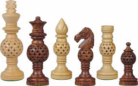 globe design artistic wooden chess pieces artistic wood pieces design