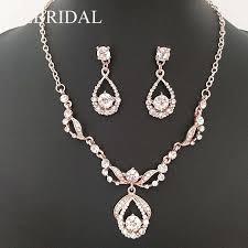 <b>SLBRIDAL</b> Rose Gold Color <b>Clear</b> Rhinestones Crystals Wedding ...